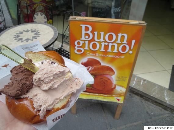 gelato brioche