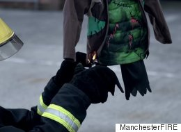 Firefighters Set Alight Kid's Halloween Costumes In Shocking Video As Warning To Parents