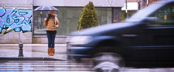 CAR RAIN PEDESTRIAN