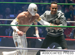 Lewis Hamilton Tries His Hand At Wrestling And Proves Surprisingly Good