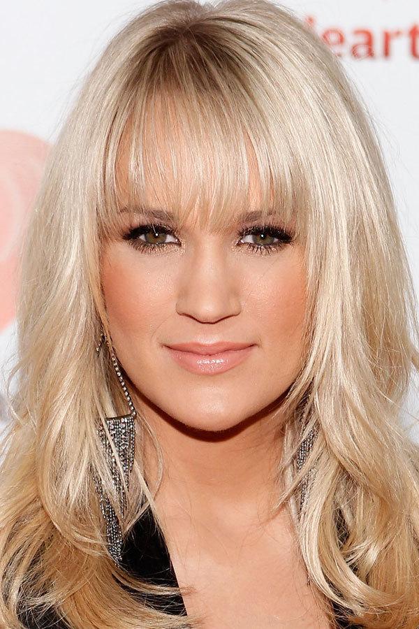 Carrie Underwoods New Blunt Bangs Photo Isaac Brekken/Getty Images