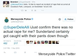 Police Apologise And launch Investigation After 'Joining In On Rape Joke'