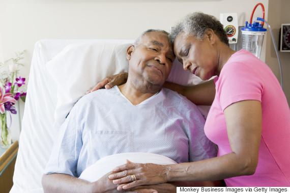 black man hospital sad