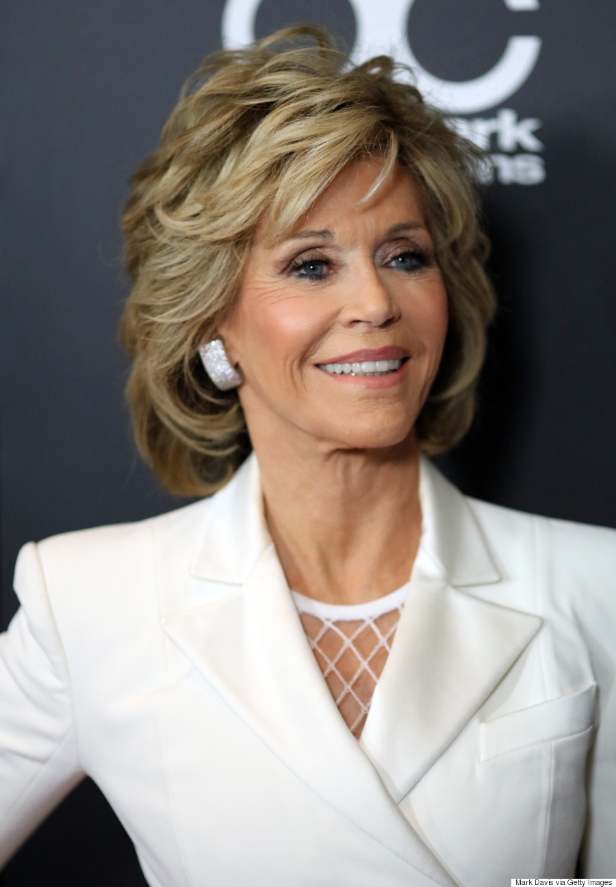Jane Fonda's All-White Balmain Ensemble Is Giving Us