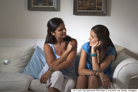 mum talking to teenager