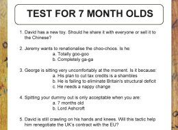 REVEALED: The Tory Test For Seven Month Old Children