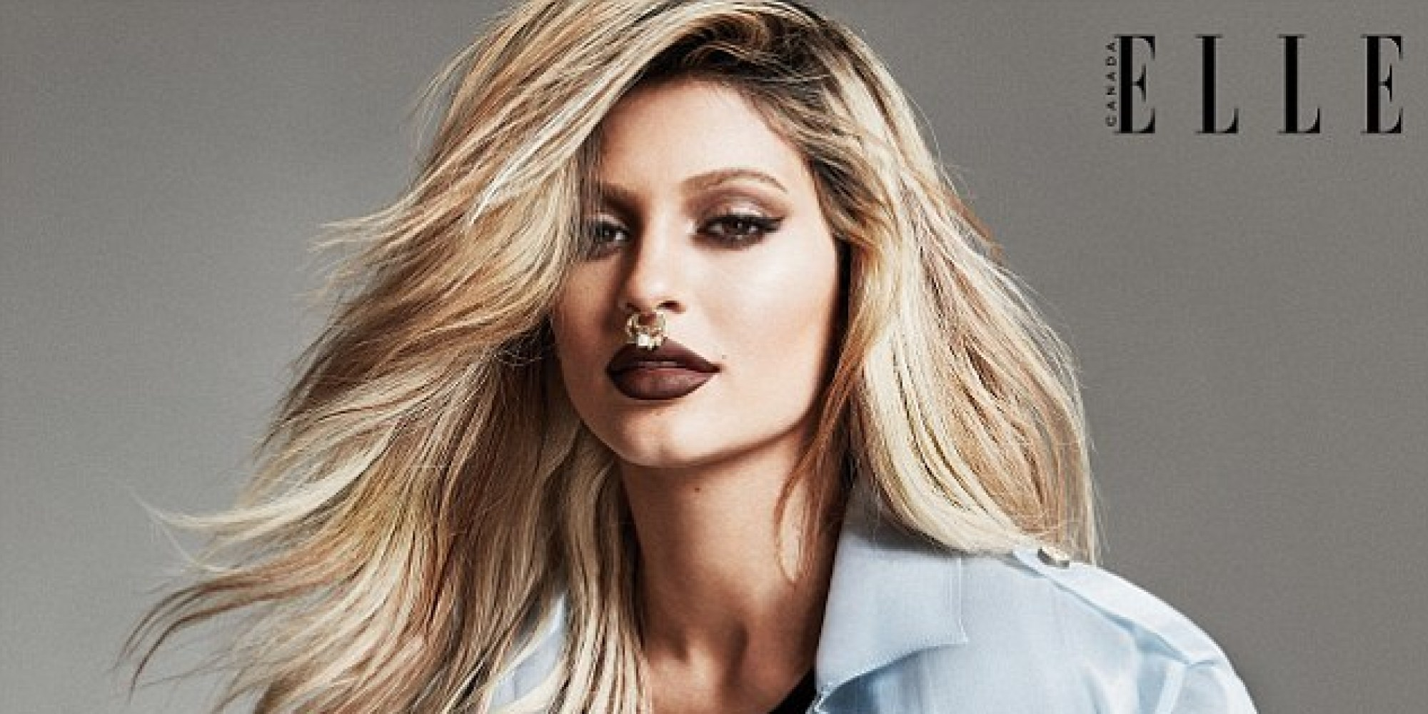 Kylie Jenner Elle Canada Cover Proves Septum Rings Are Here To Stay ...