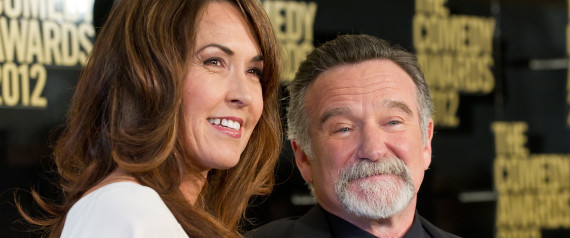 SUSAN SCHNEIDER AND COMEDIAN ROBIN WILLIAMS