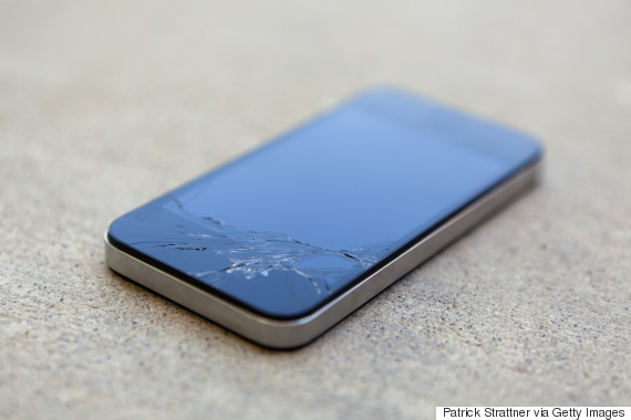 smashed phone screen