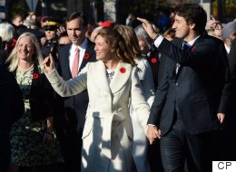 Sophie And Justin Trudeau 'Shoulder To Shoulder' For Historic Walk