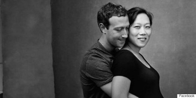 Mark Zuckerberg Cradles Wife's Growing Bump In Touching Photo