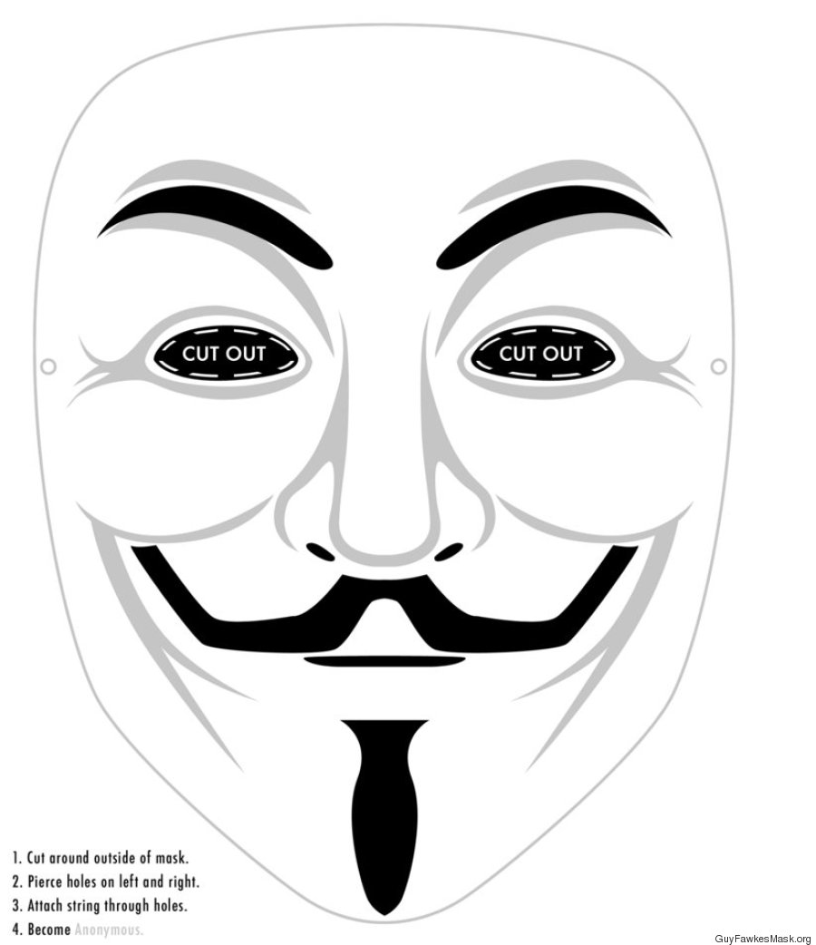how to make guy fawkes mask