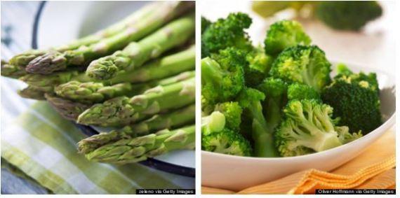 brócolis vs aspargo