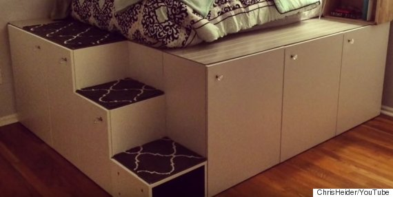 Ikea Hack Dad Creates Cosy Platform Bed For Daughter With