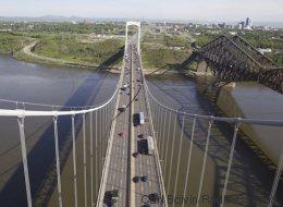Le pont Pierre-Laporte inauguré il y a 45 ans (PHOTOS)
