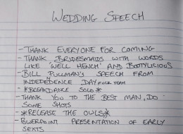 This Is The Most Amazing Best Man's Speech Ever. EVER.