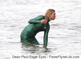 Nothing To See Here, Just Kate Moss In The Thames, With A Cigarette...