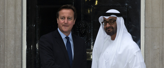 MOHAMMED BIN ZAYED AND DAVID CAMERON