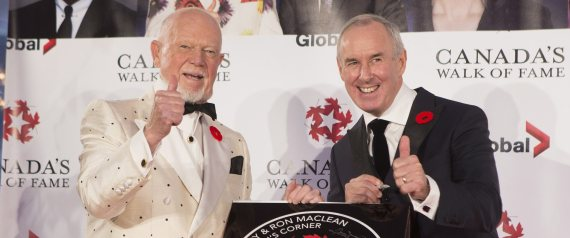 DON CHERRY RON MACLEAN WALK OF FAME