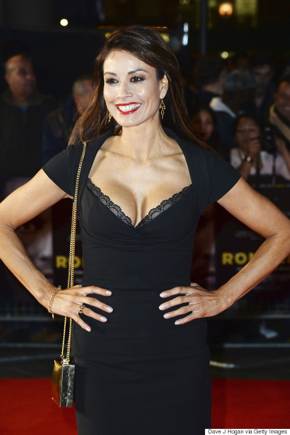 Melanie Sykes Stuns In Black Dress On Red Carpet, As Former 'I'm A ... Red Lipstick Photoshoot
