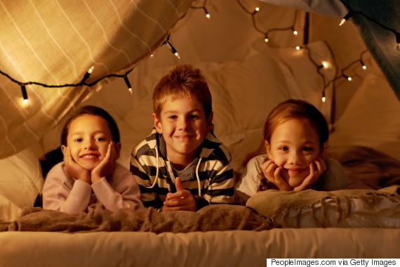 indoor camping children