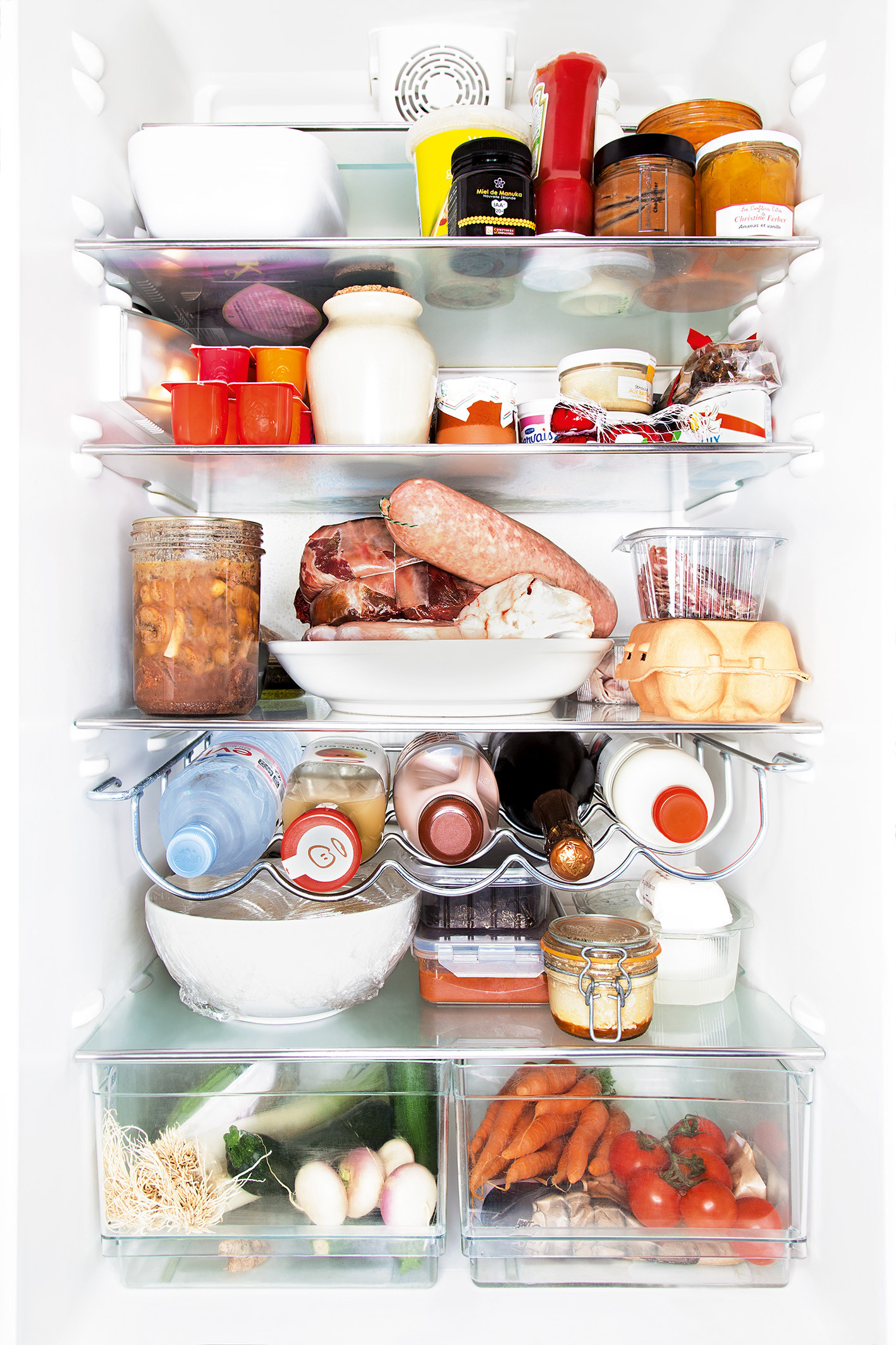 Photos dans le frigo de 4 grands chefs cuisiniers h l ne for Cuisine incorporer