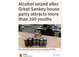 Police Seize Haul Of Alcohol From Partying Youths, Story Delights Internet