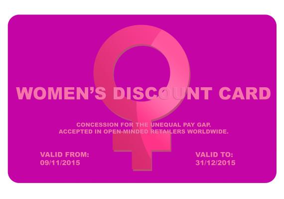 women discount card