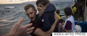 GREEKS HELP REFUGEES
