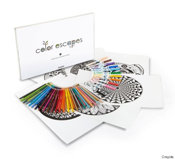 adult colouring kit