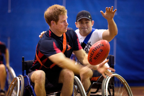 prince harry wheelchair