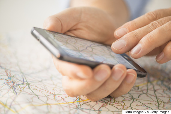 map on phone