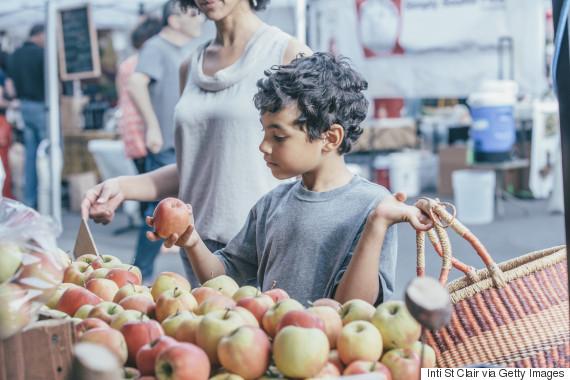 family shopping food market