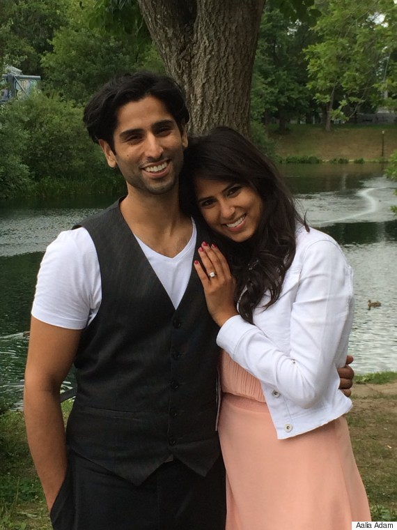 aalia adam wedding proposal