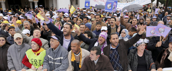 LABOR DEMONSTRATIONS IN MOROCCO