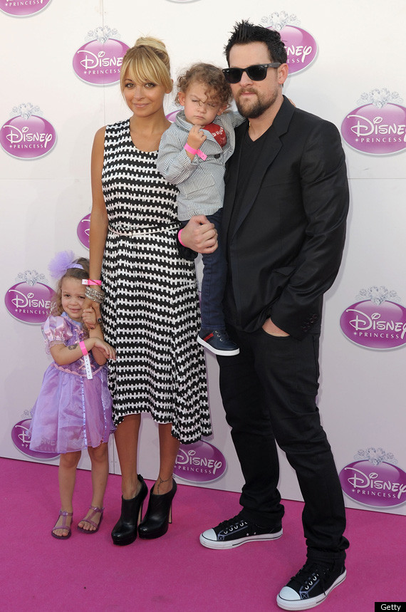 Nicole Richie Joel Madden Bring Kids To Disney Princess