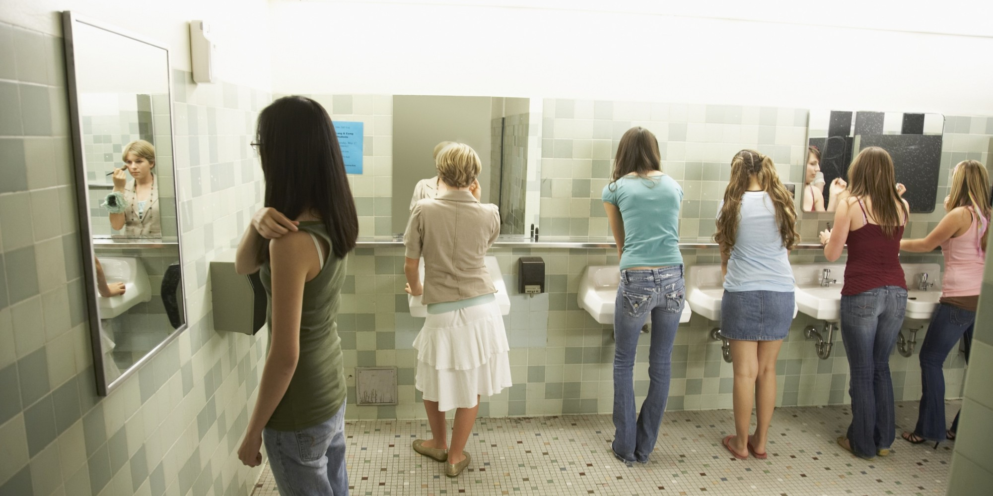 Image result for girl's in rest room