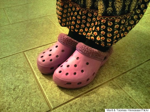 purple crocs