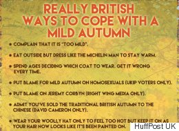 Why Brits Can't Cope With Mild Autumn Weather