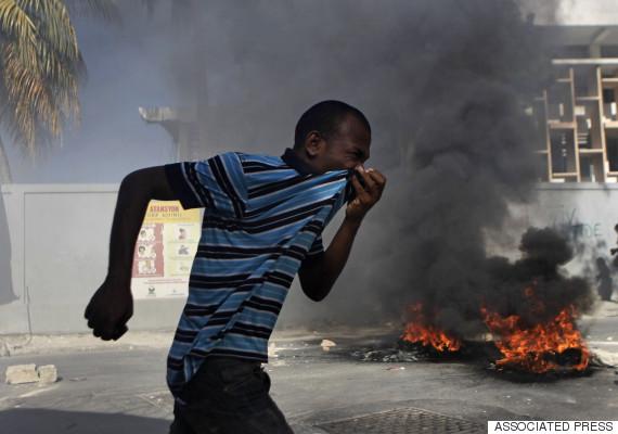 protest haiti election 2011