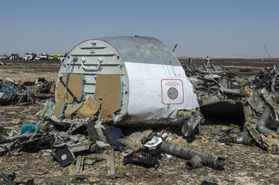 russian plane wreckage in sinai