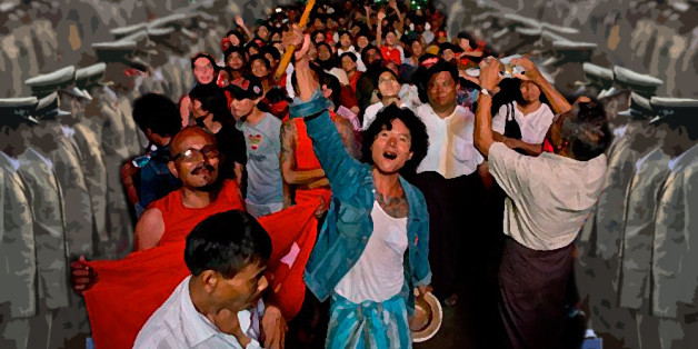 Images Weekend Roundup: Victory in Myanmar for Democracy -- On a Leash 1 nathan gardels