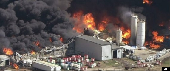WAXAHACHIE TEXAS MAGNABLEND CHEMICAL PLANT FIRE