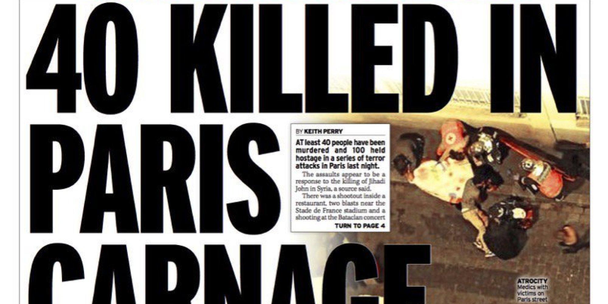 Attentat Facebook: Attentats De Paris: Les Unes Des Journaux Français Et