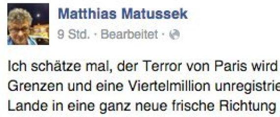 MATTHIAS MATUSSEK TERROR PARIS