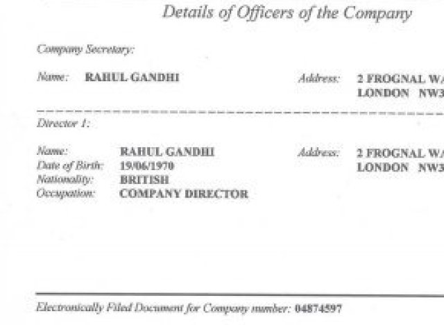 subramanian swamy document on rahul gandhi