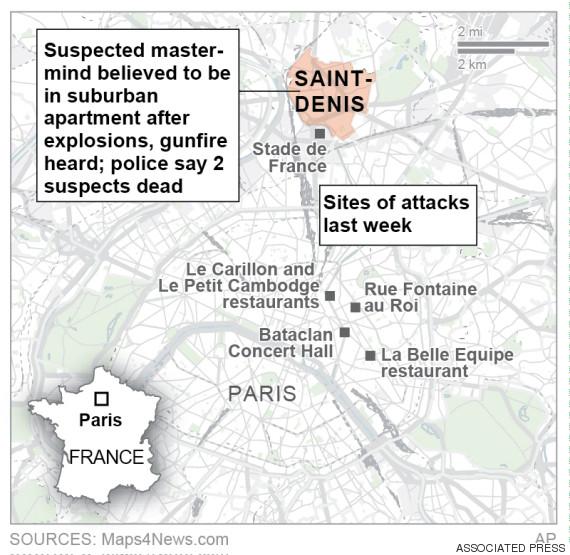 saint dennis map