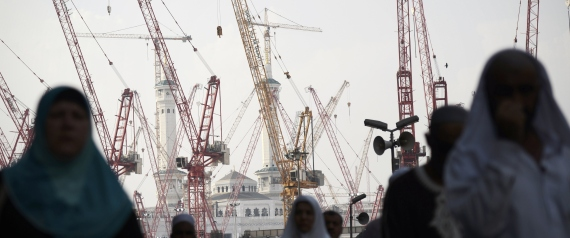 CRANE HOLY MOSQUE IN MECCA