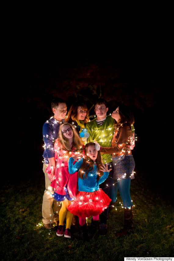 christmas lights family