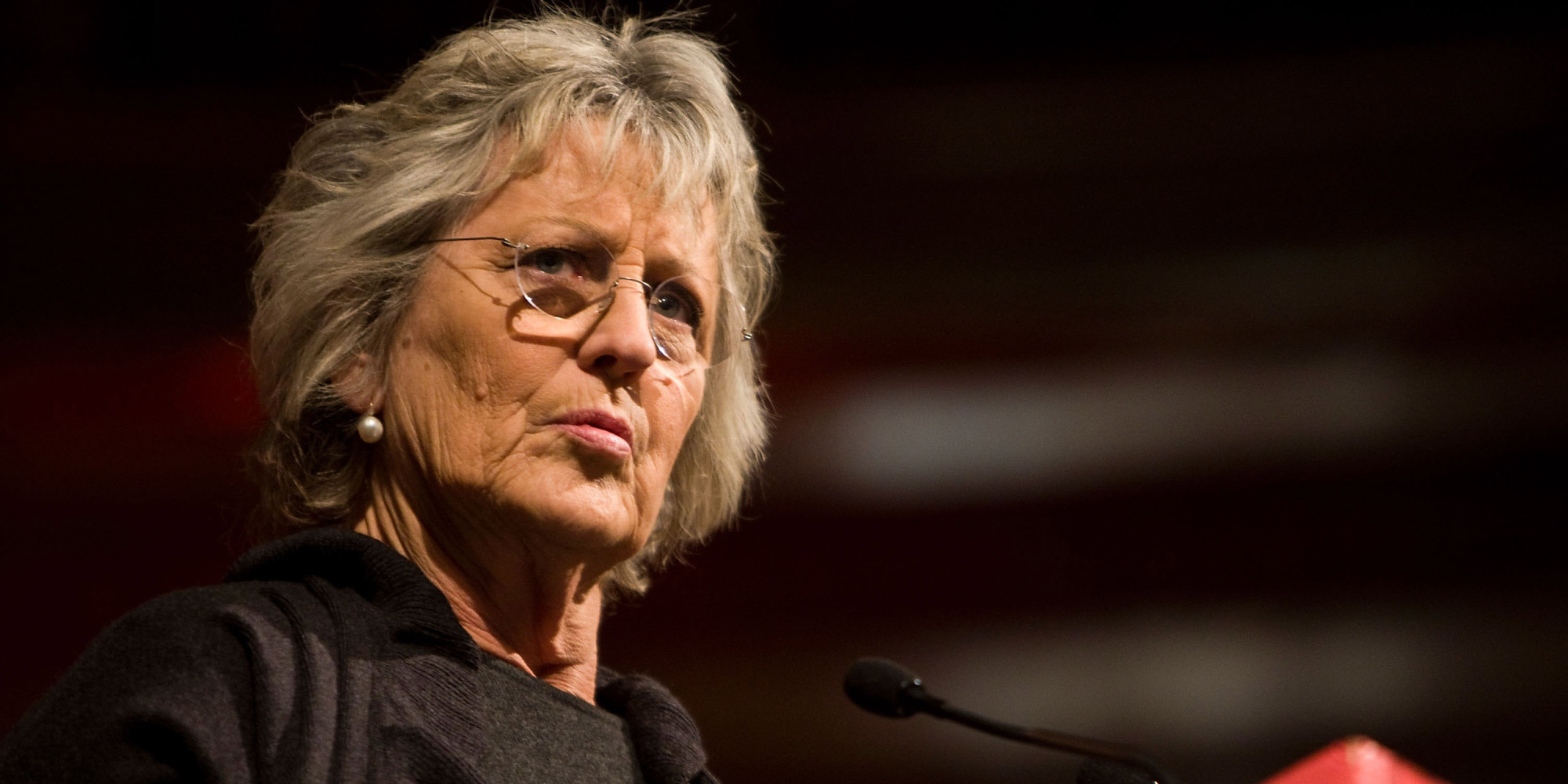 Germaine Greer Delivers Lecture At Cardiff University ...
